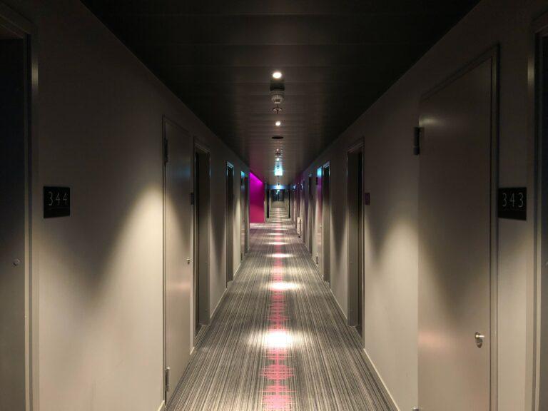 A Hallway in Moxy Berlin Ostbahnhof Hotel